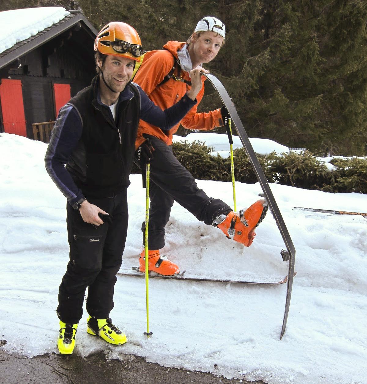 Callum's broken ski