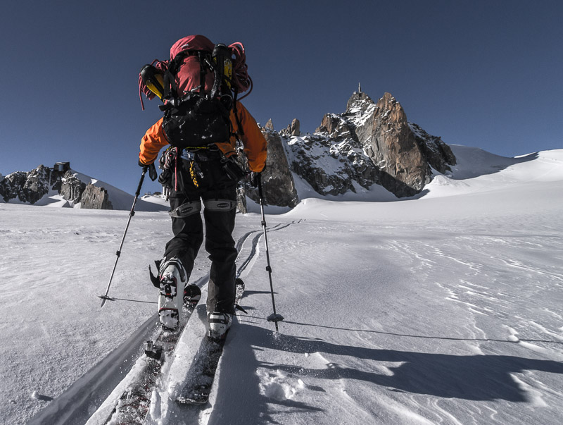 Alpine conditions: Mont Blanc du Tacul East Face