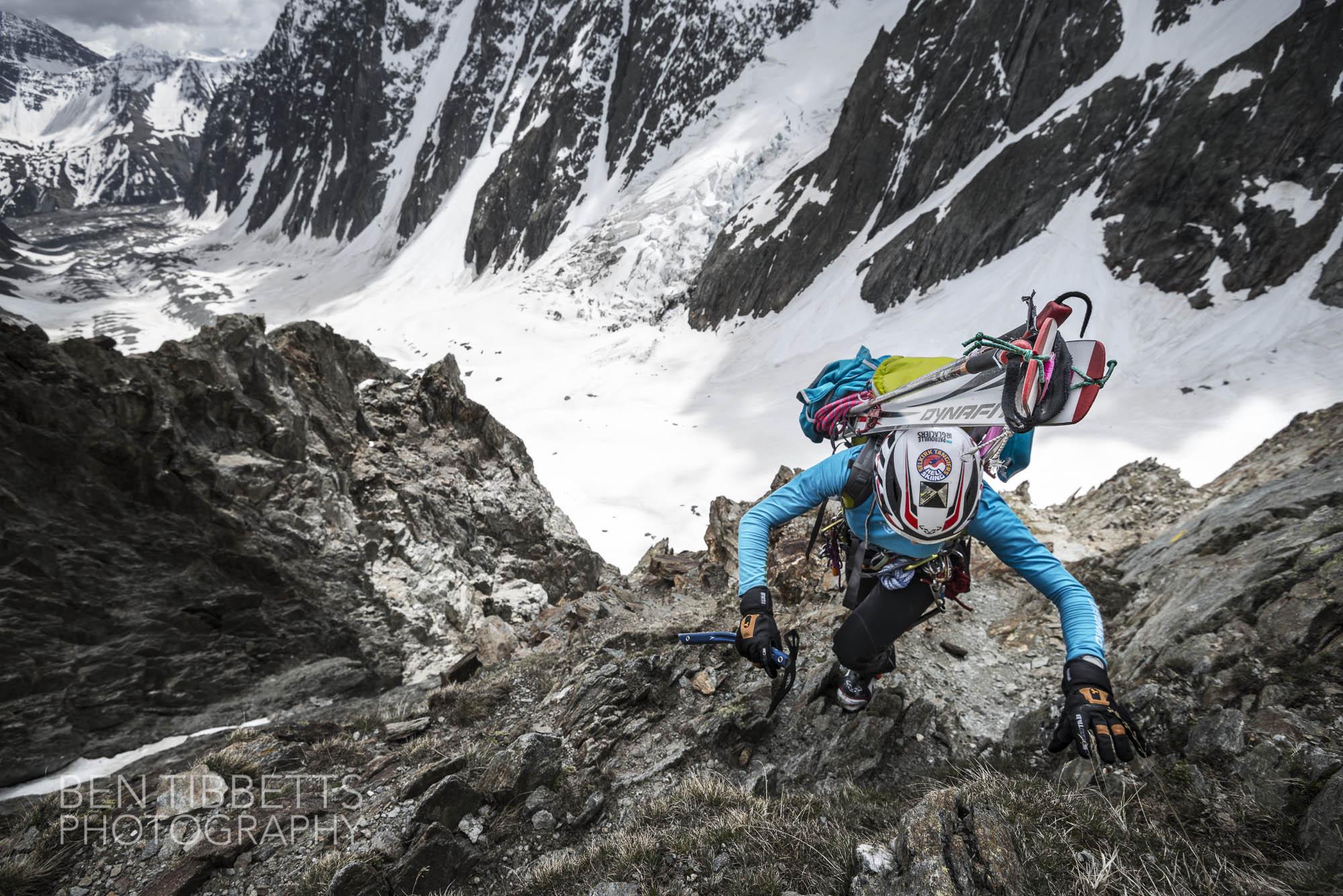 Tournette Spur, SW face of Mont Blanc